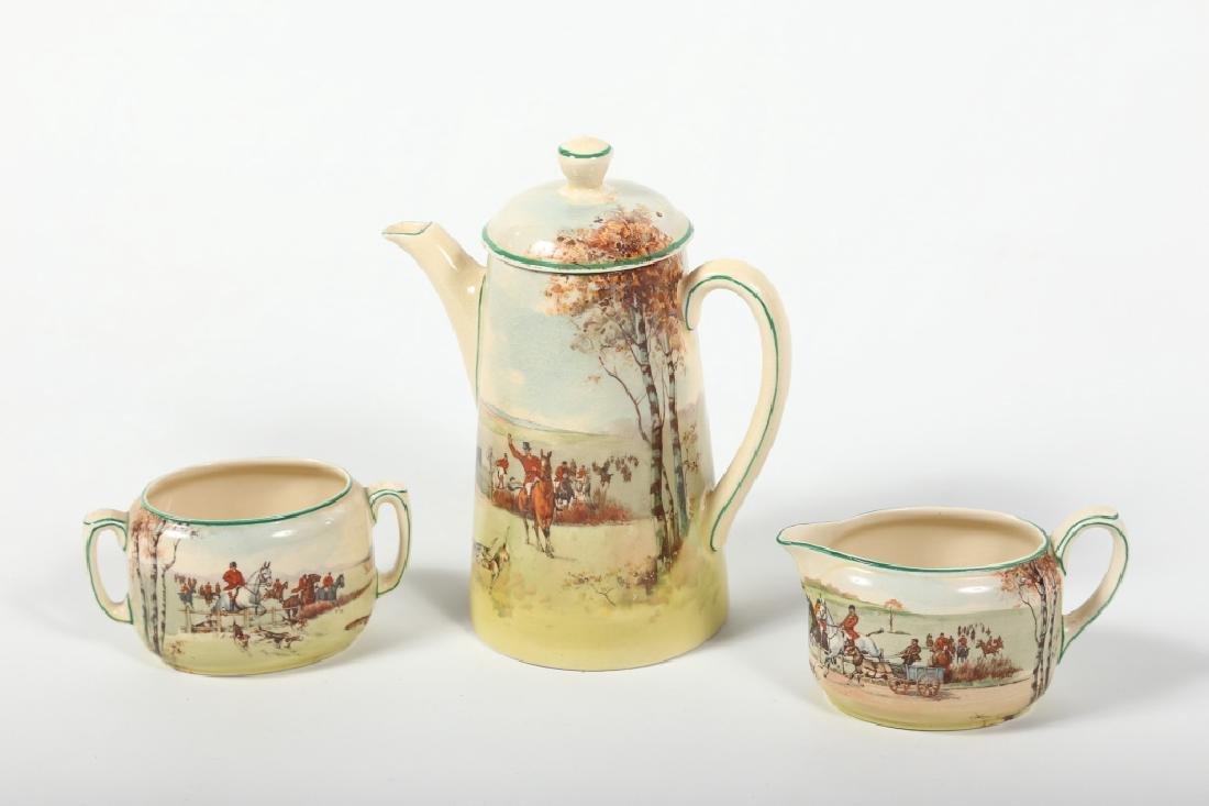 Royal Doulton Porcelain Fox Hunting Tea Set
