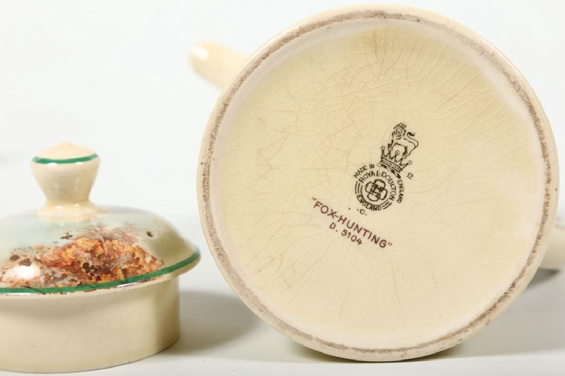 Royal Doulton Porcelain Fox Hunting Tea Set - 2