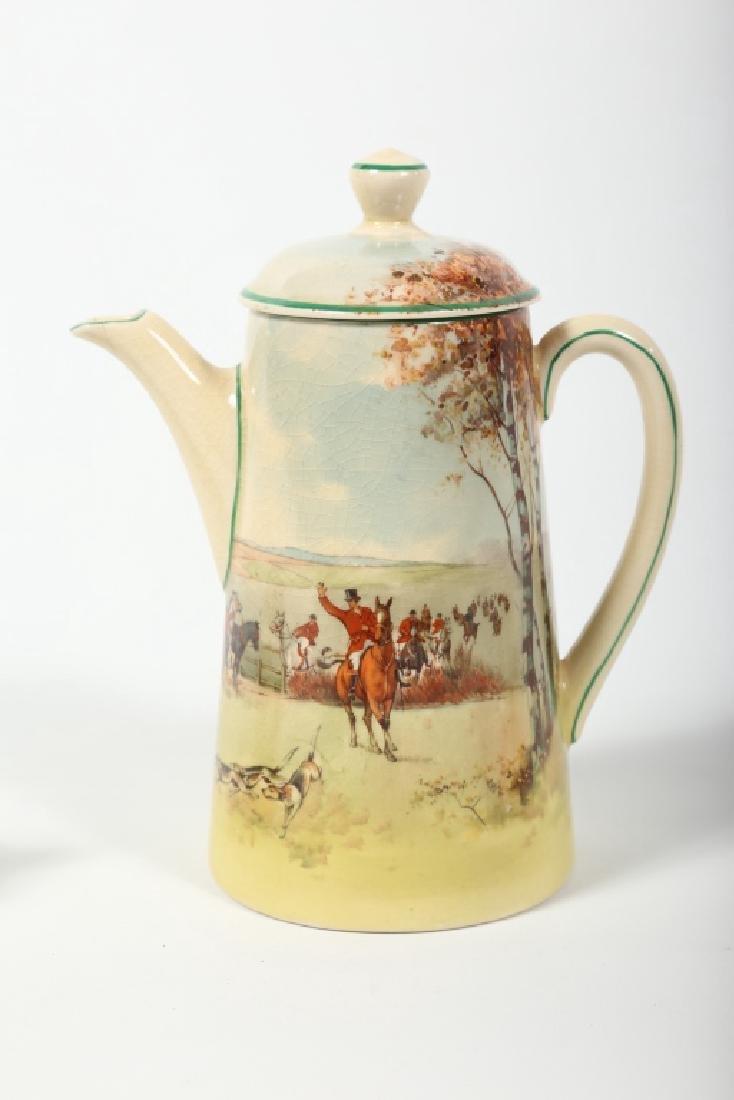 Royal Doulton Porcelain Fox Hunting Tea Set - 5
