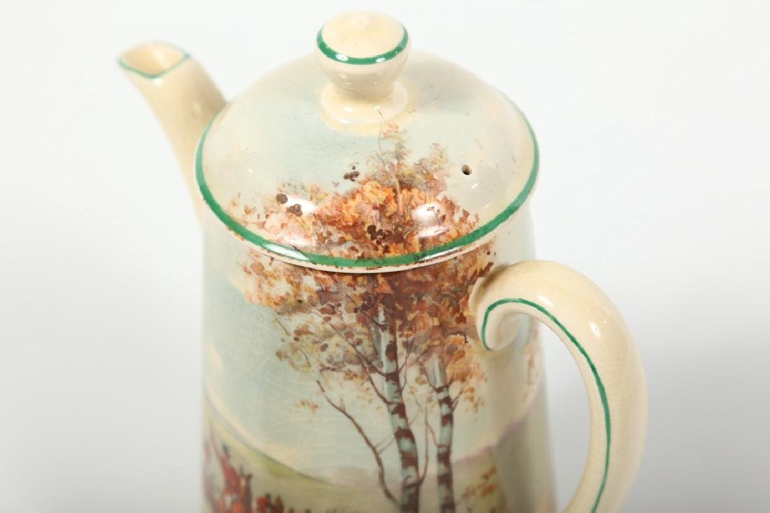 Royal Doulton Porcelain Fox Hunting Tea Set - 6