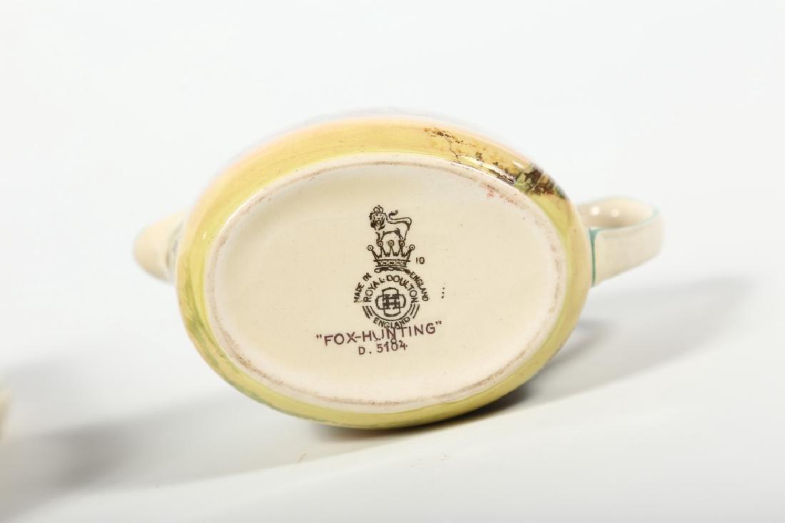 Royal Doulton Porcelain Fox Hunting Tea Set - 7