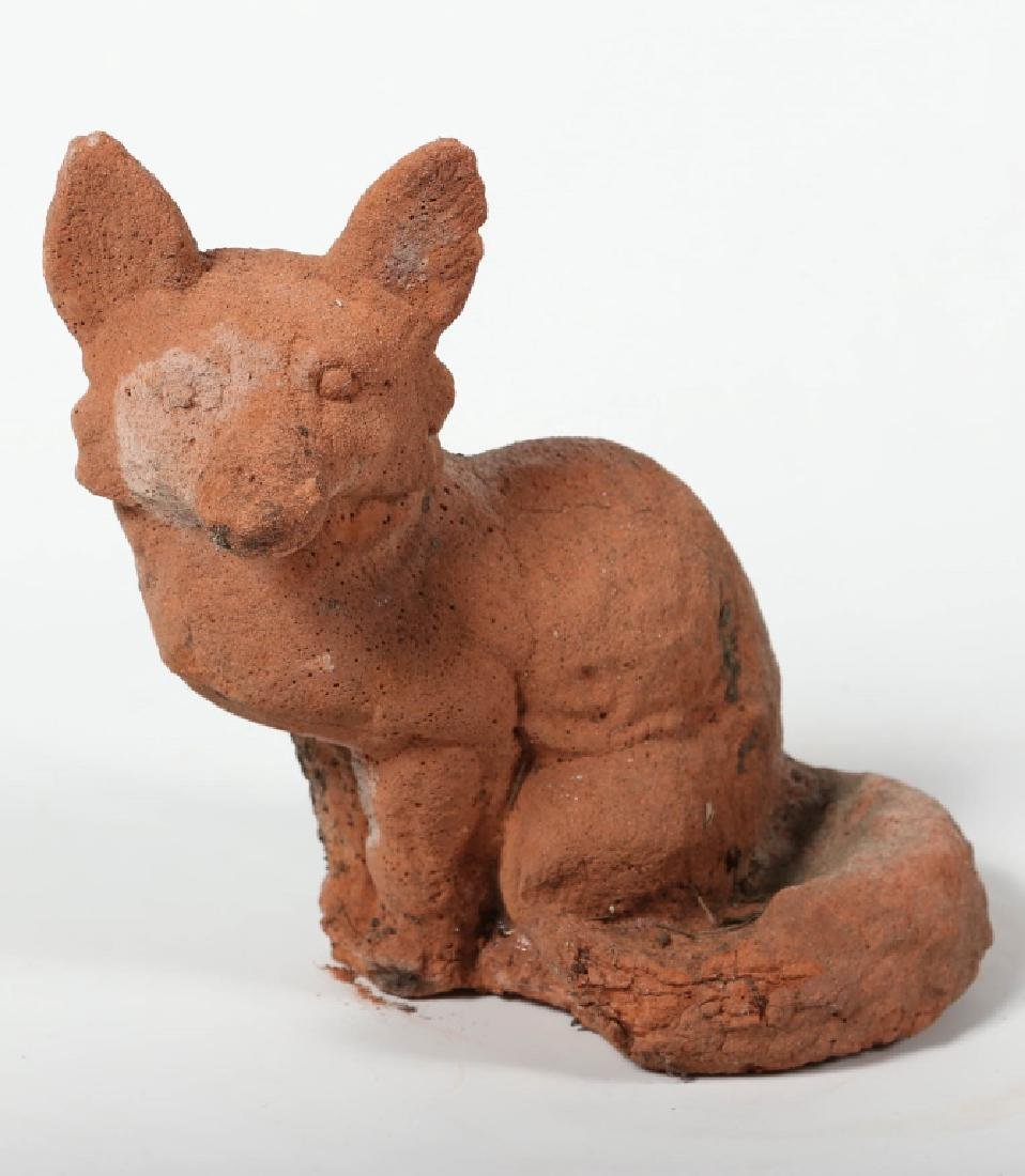 Antique Terracotta Figural Fox