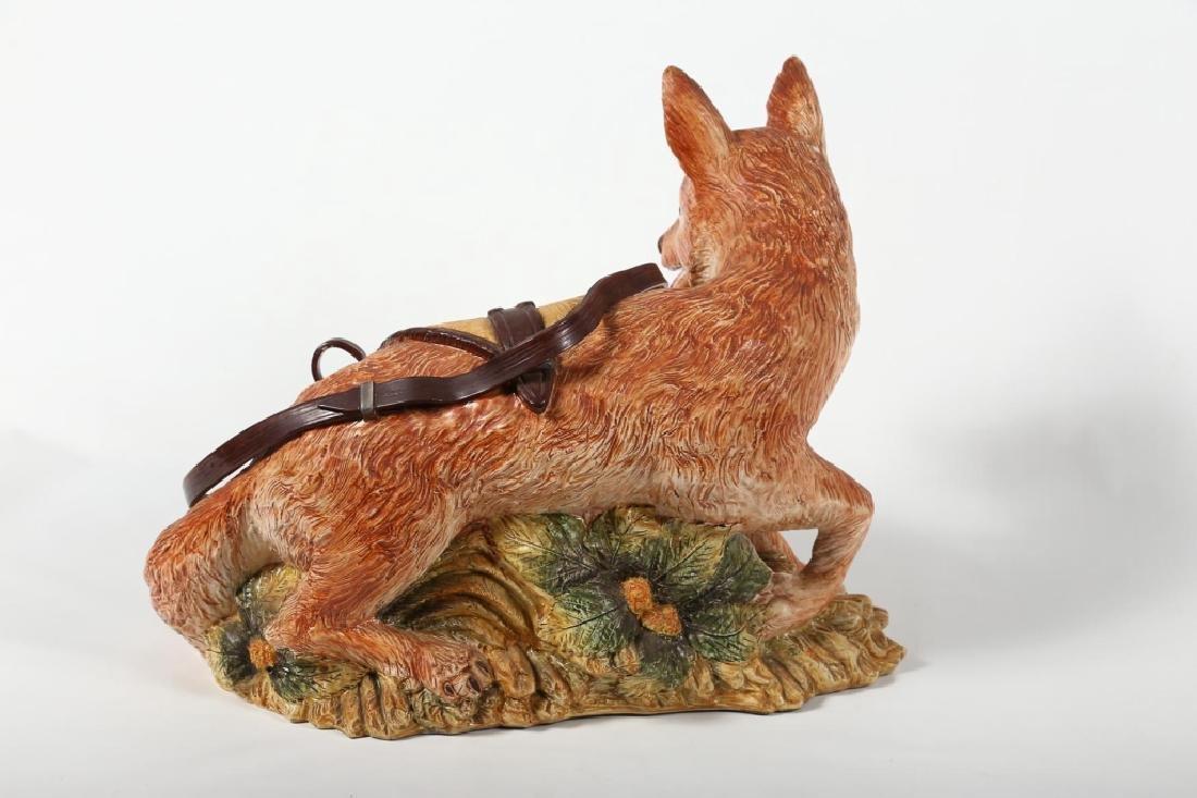 Fine Italian Life Sized Majolica Figural Fox - 2