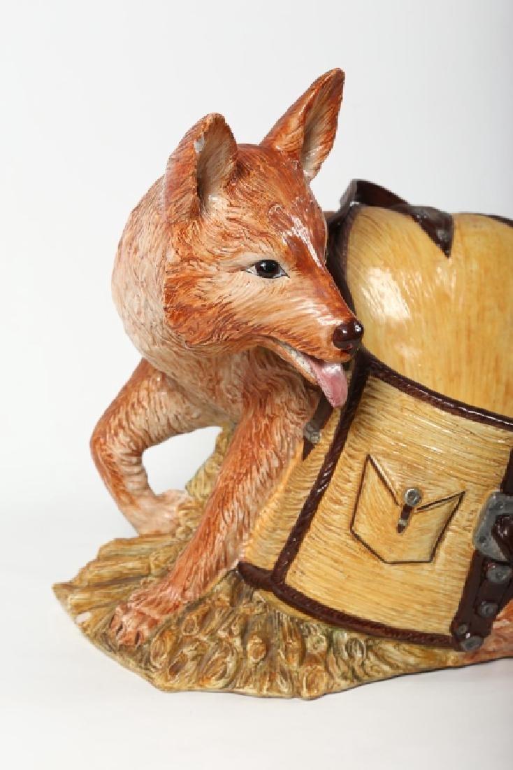 Fine Italian Life Sized Majolica Figural Fox - 3