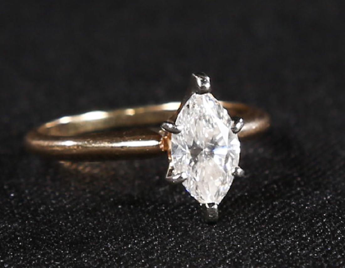 Fine 14K Gold & Diamond Ladies Ring