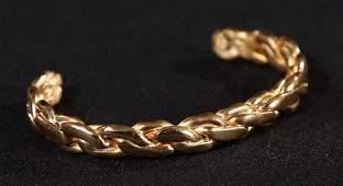 Gentleman's Art Deco Gold Bracelet