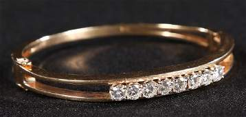 Fine Art Deco Gold  Diamond Bracelet