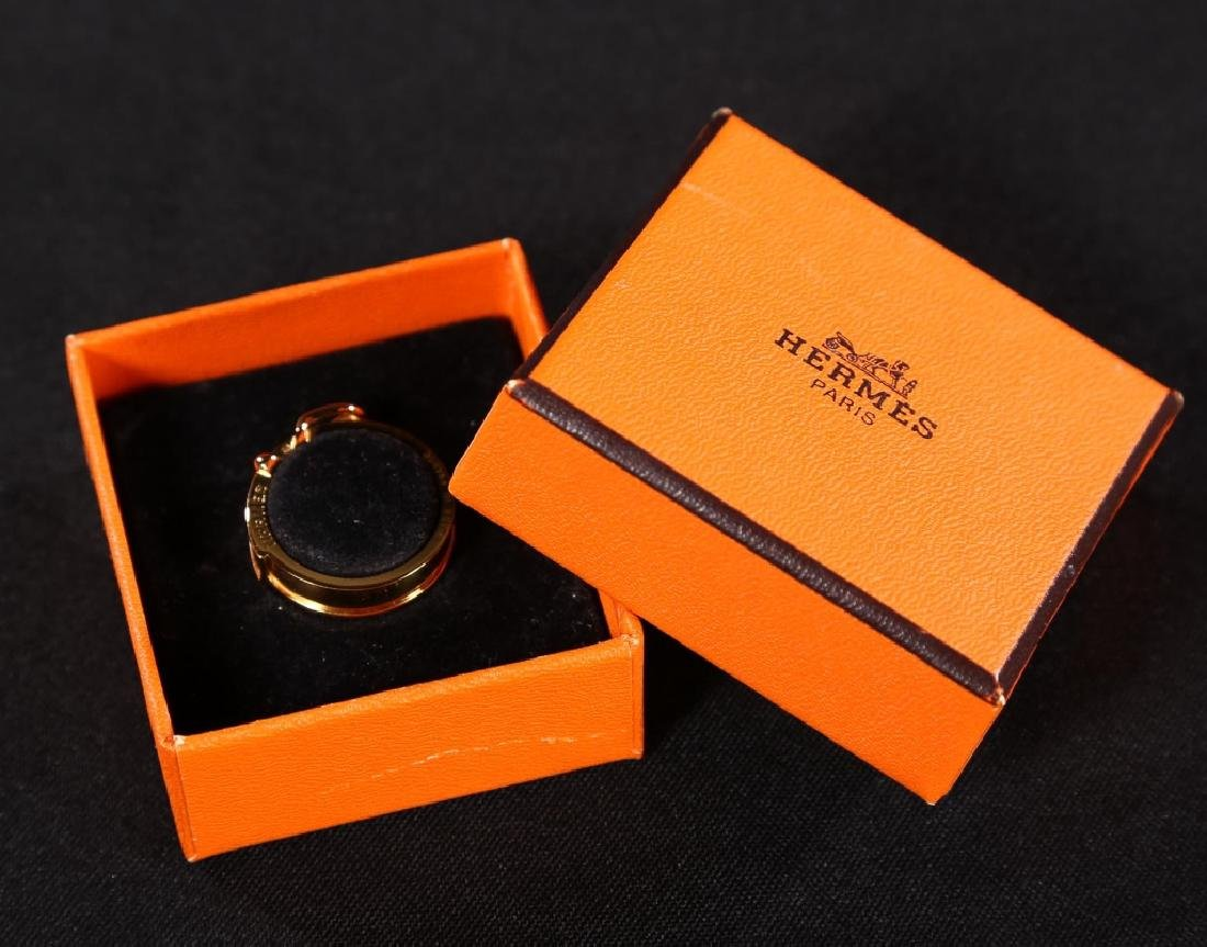 Hermes Gold Scarf Ring