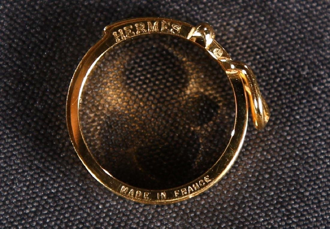Hermes Gold Scarf Ring - 4