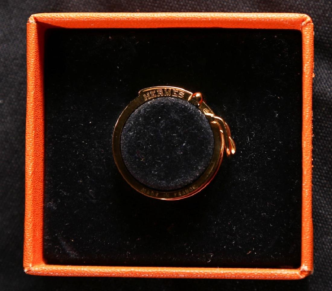 Hermes Gold Scarf Ring - 5