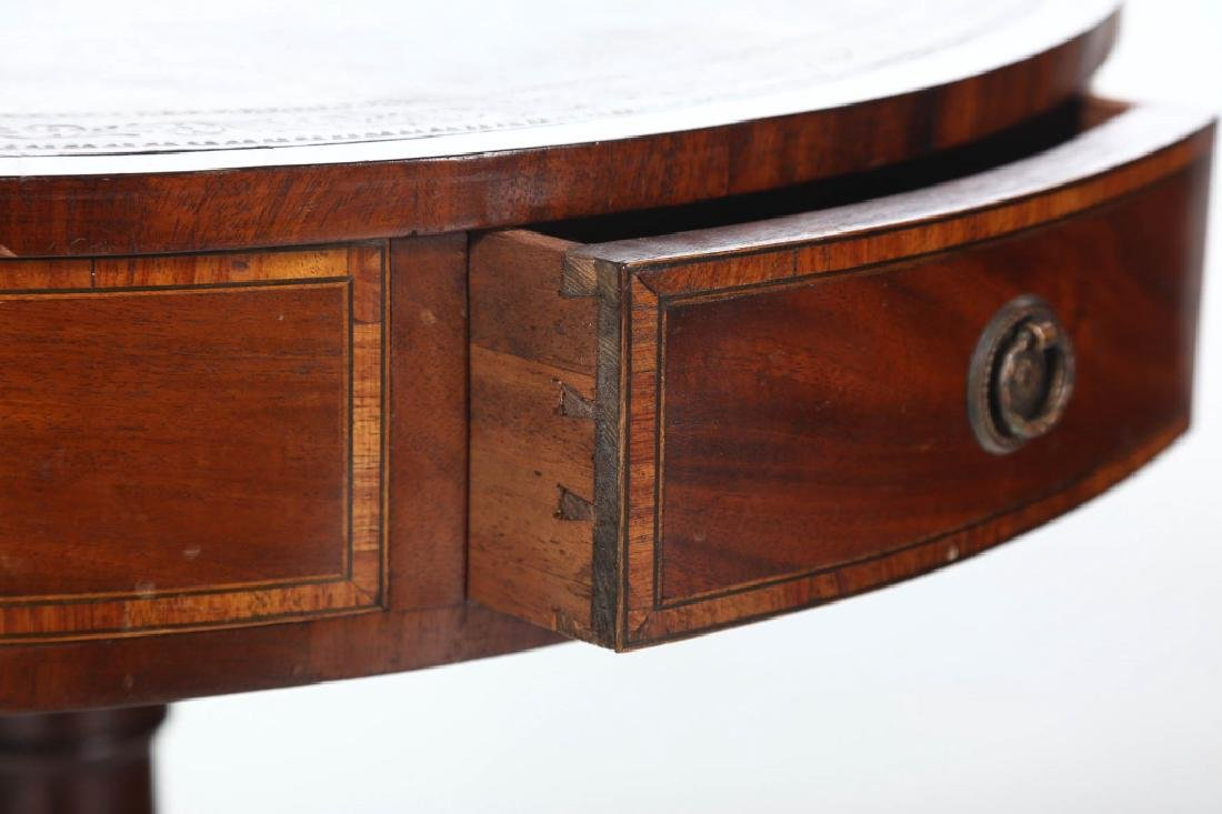 Good Colonial Revival Small Drum Table - 3