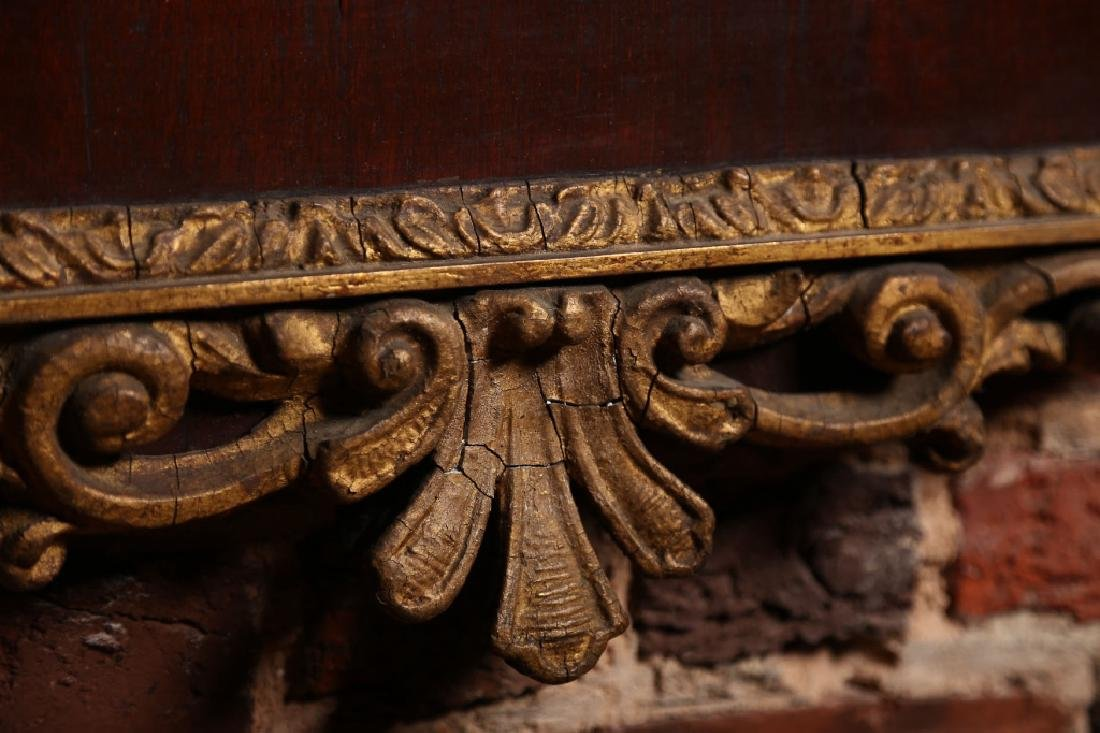 Fine Chippendale Carved Gilt Wood Looking Glass - 3
