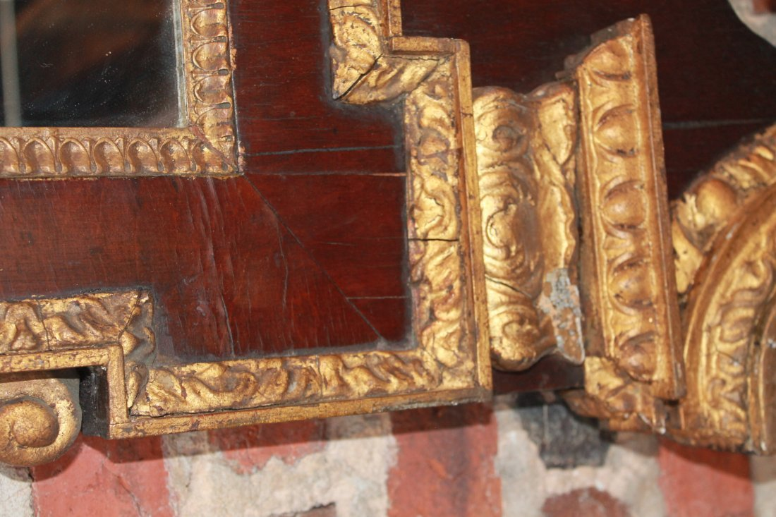 Fine Chippendale Carved Gilt Wood Looking Glass - 7