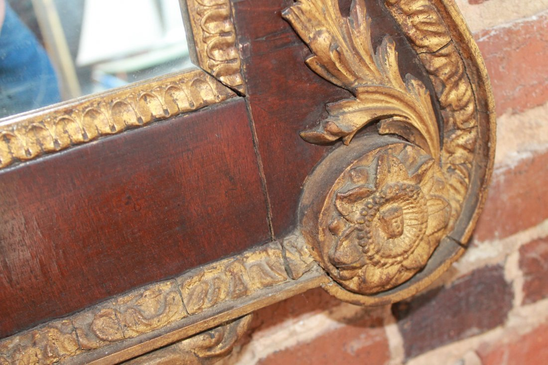 Fine Chippendale Carved Gilt Wood Looking Glass - 8