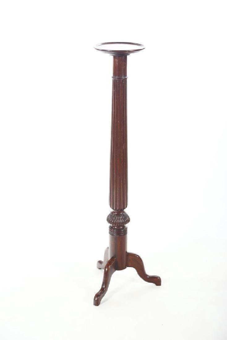 British Regency Carved Mahogany Pedestal