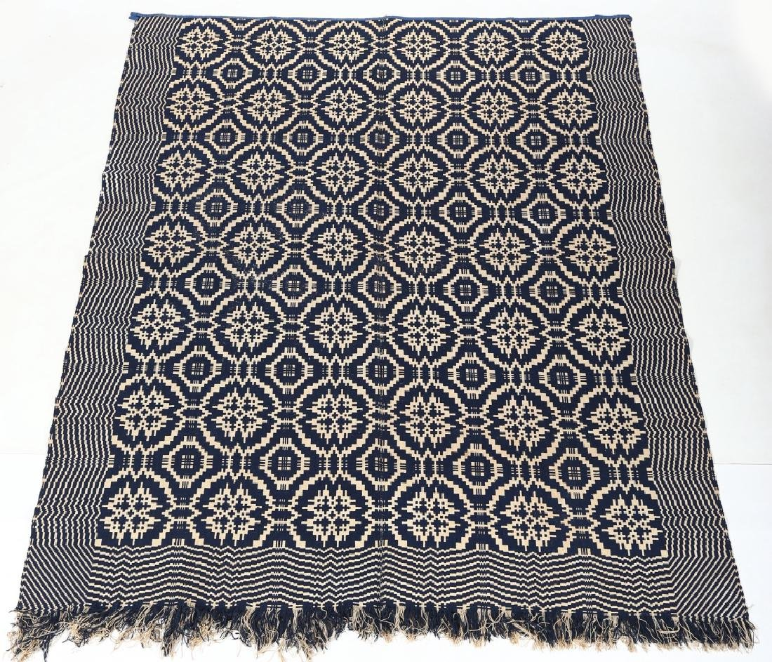 Antique American Coverlet - 3