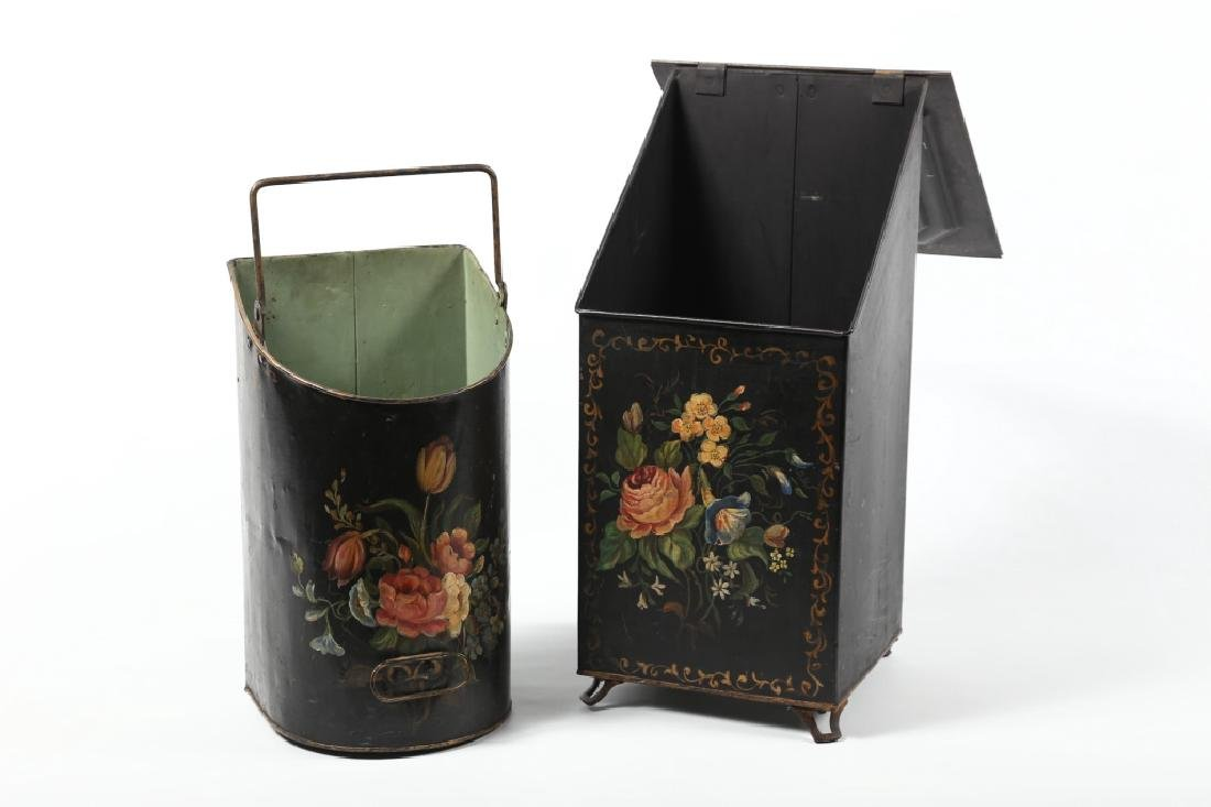 Victorian Tole-Painted Ash Box