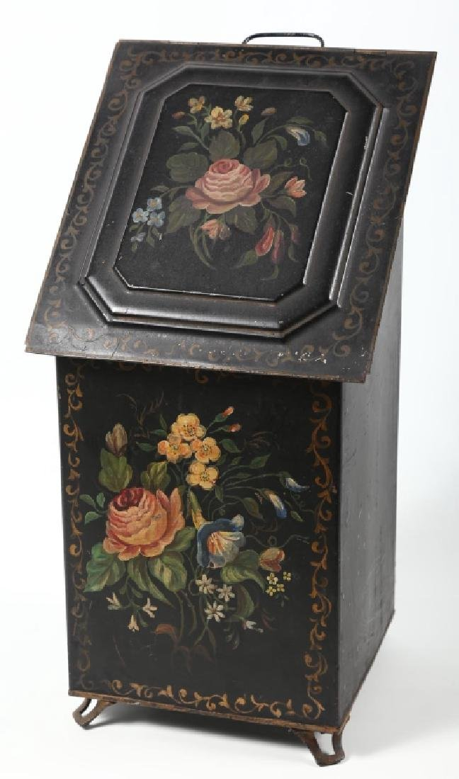 Victorian Tole-Painted Ash Box - 2