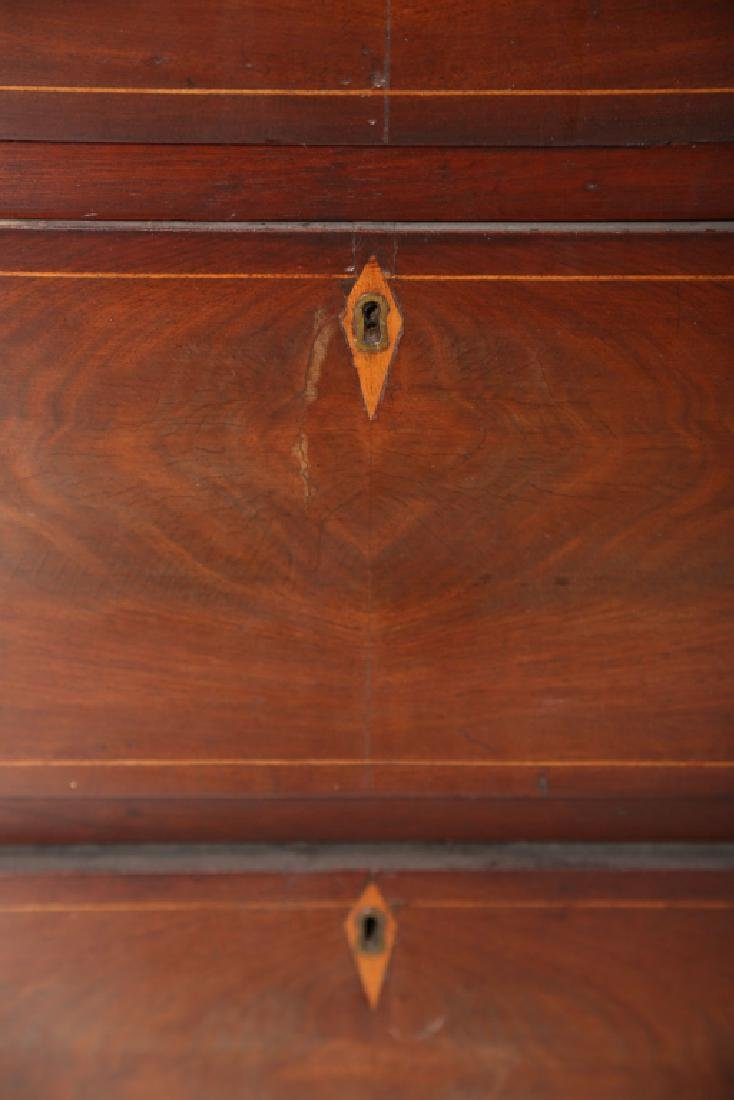 Southern Late Federal Inlaid Walnut Chest - 5