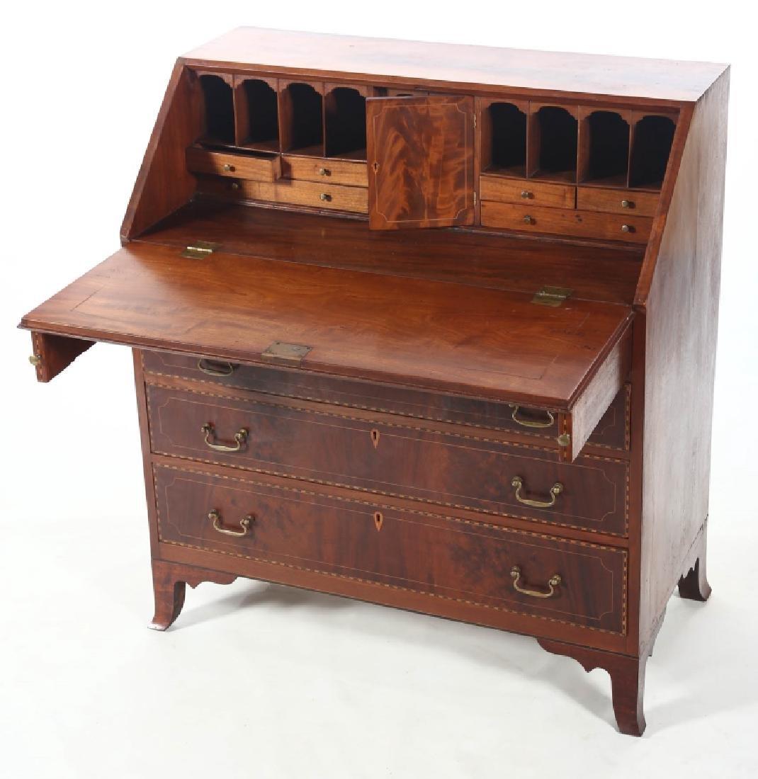 Southern Federal Inlaid Mahogany Desk - 4
