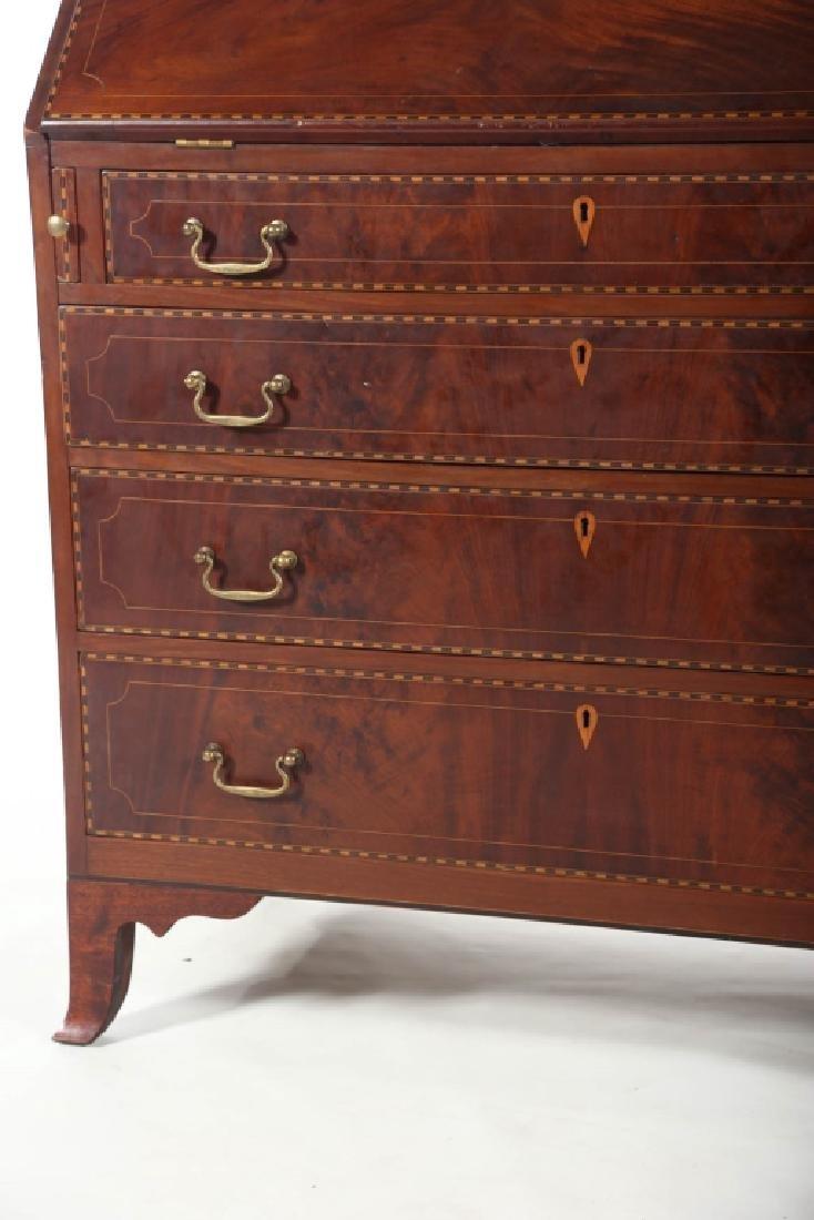 Southern Federal Inlaid Mahogany Desk - 6
