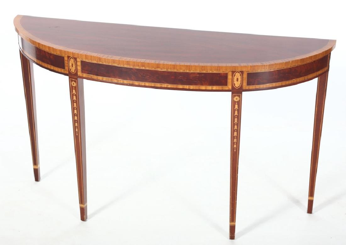 American Federal Style Inlaid Mahogany Console