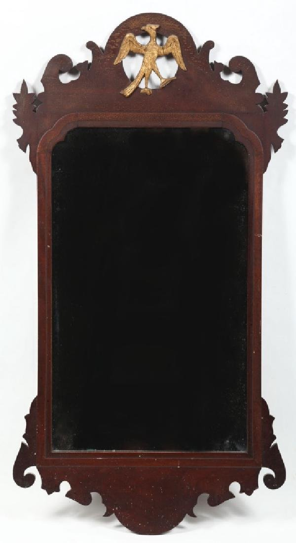 Colonial Revival Federal Style Mahogany Mirror