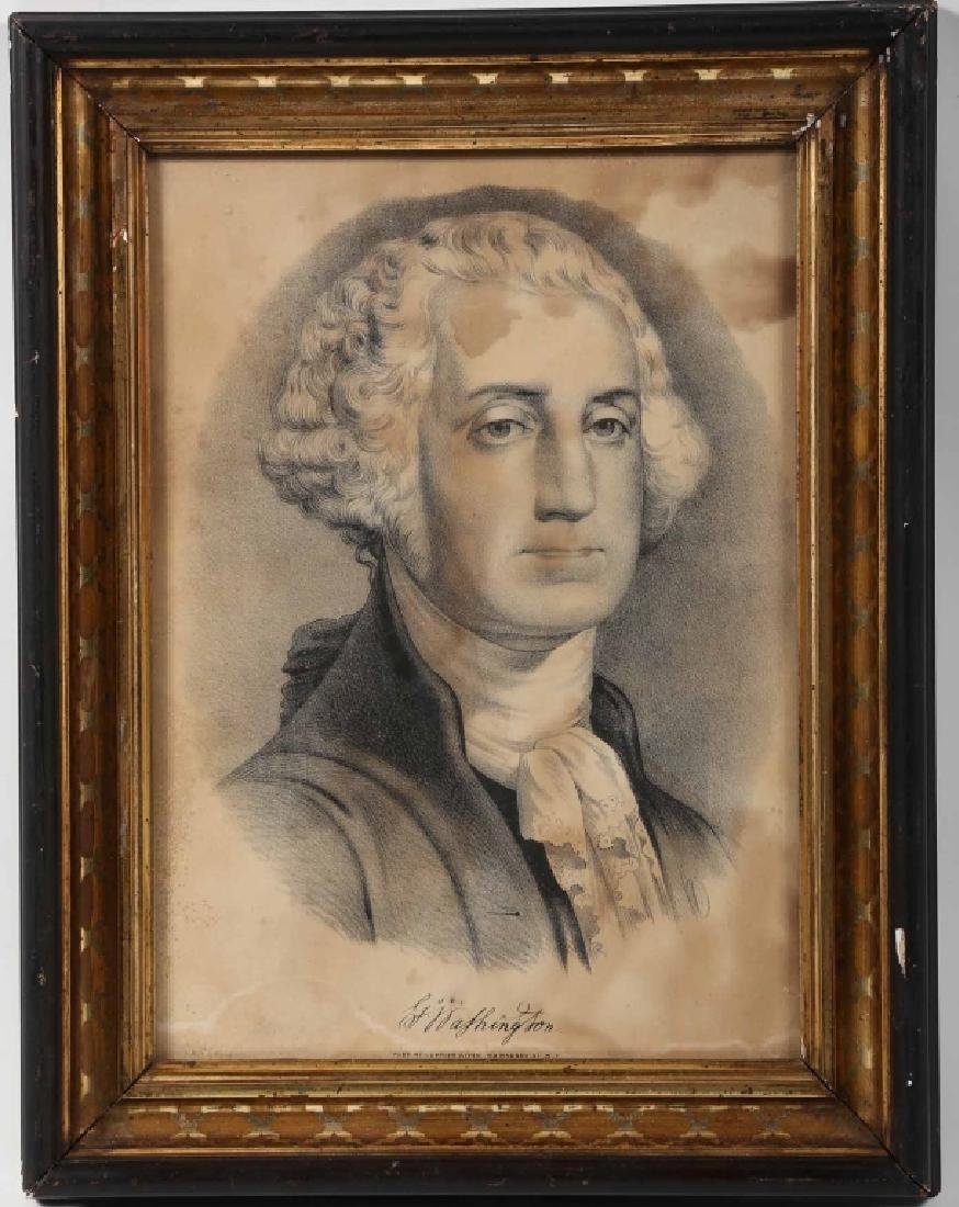 Period Currier and Ives Print of George Washington