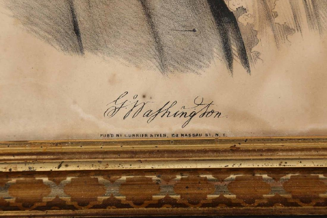 Period Currier and Ives Print of George Washington - 2
