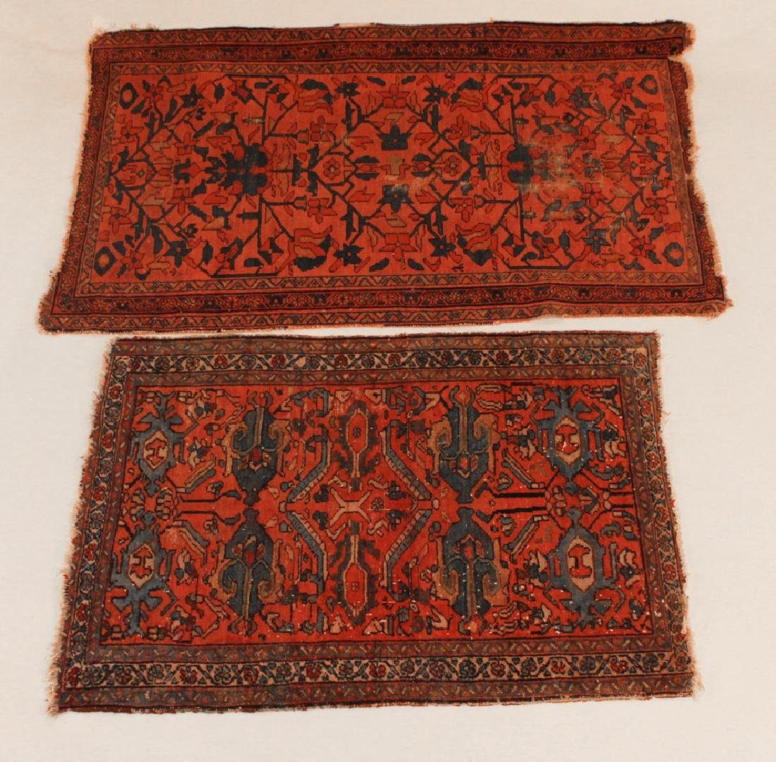 Two Antique Persian Hamadan Carpets