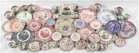 Antique British Transfer Ironstone Articles