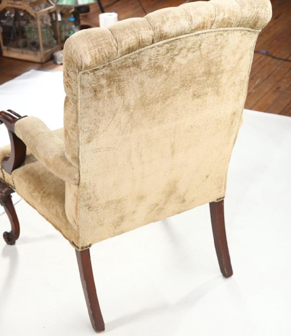 Handsome French Carved & Upholstered Arm Chair - 2