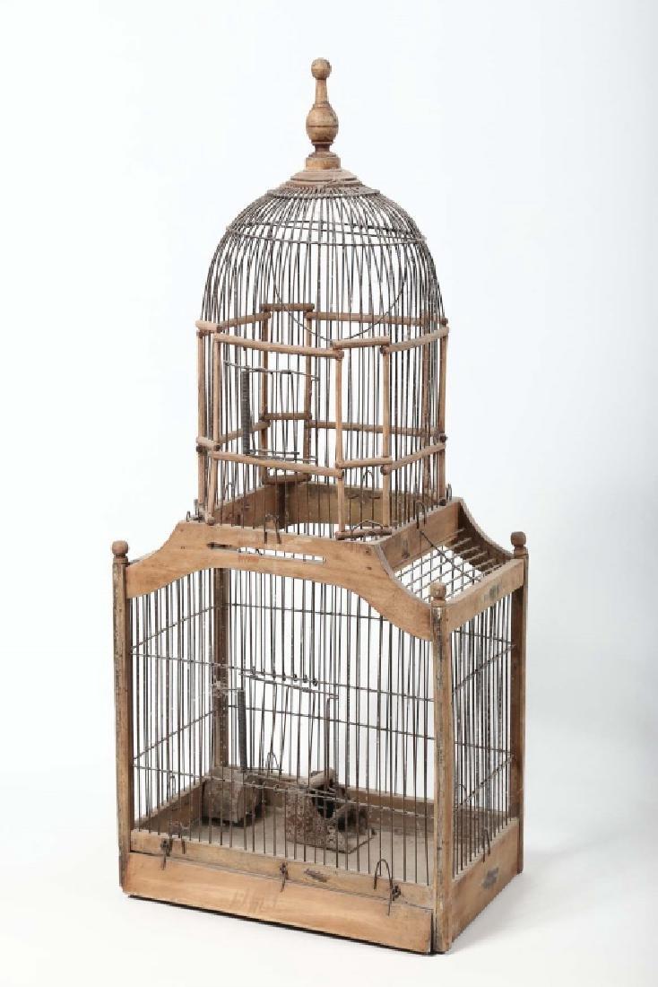 Antique Victorian Wood & Metal Birdcage