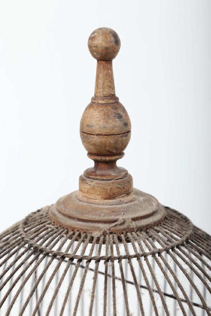 Antique Victorian Wood & Metal Birdcage - 2
