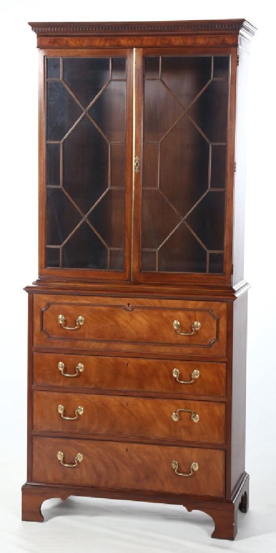 Baker Federal Style Mahogany Secretary Bookcase