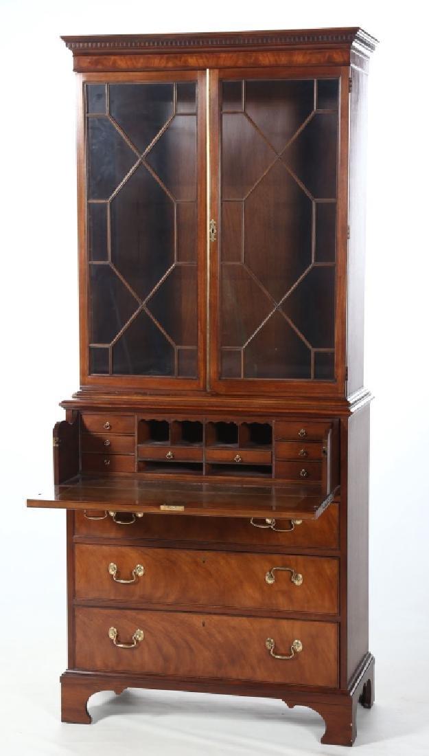 Baker Federal Style Mahogany Secretary Bookcase - 2