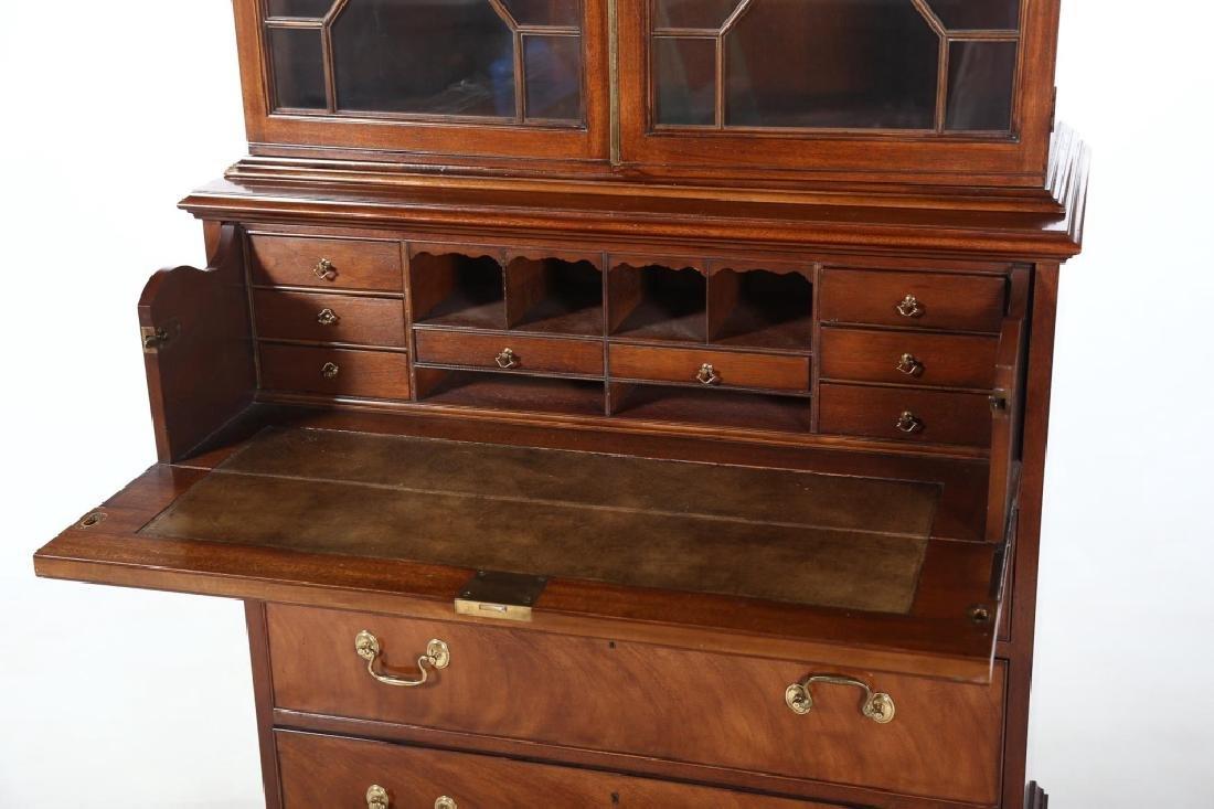 Baker Federal Style Mahogany Secretary Bookcase - 4
