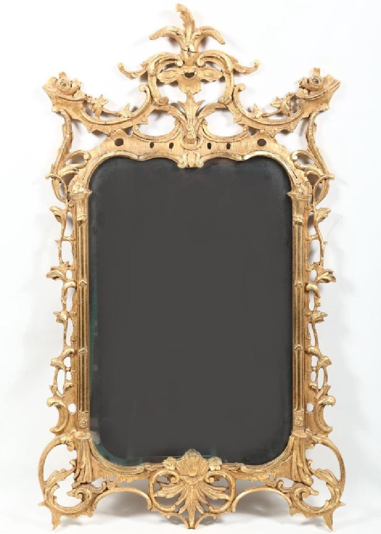 Rococo Style Carved & Gilt Looking Glass