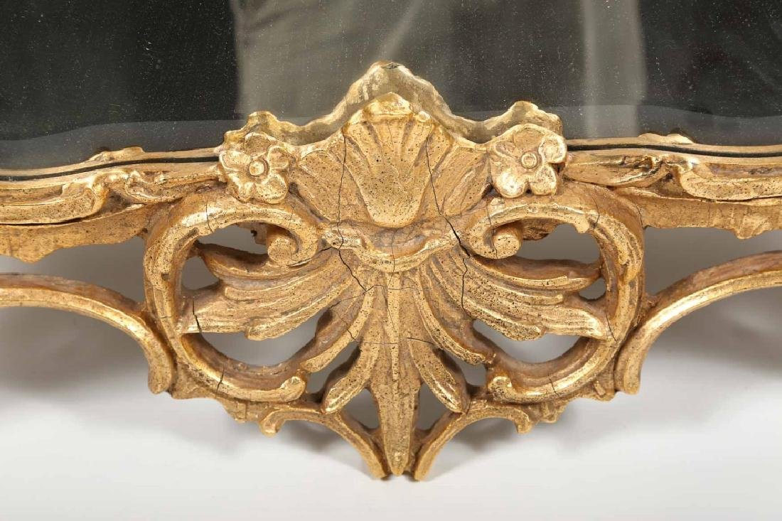 Rococo Style Carved & Gilt Looking Glass - 3