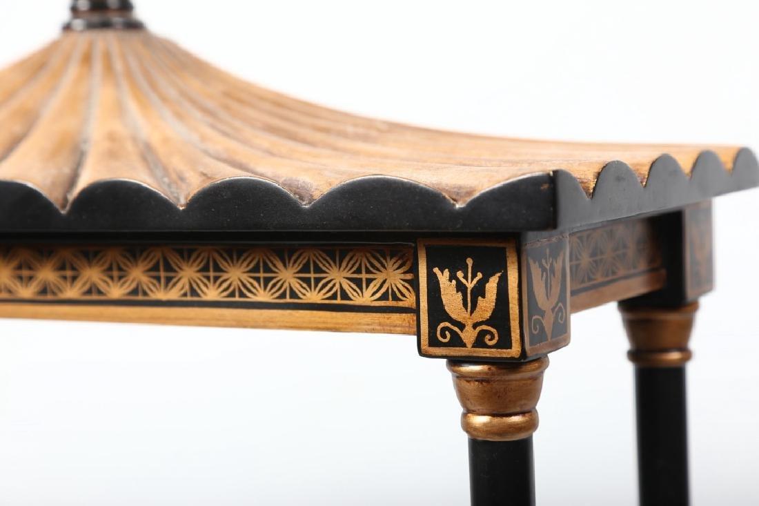 Chinese Chippendale Style Ebonized Wall Shelf - 3