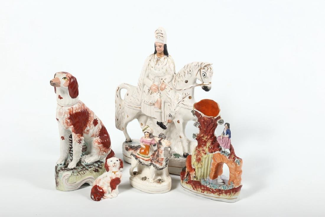 Collection Staffordshire Pottery Figures
