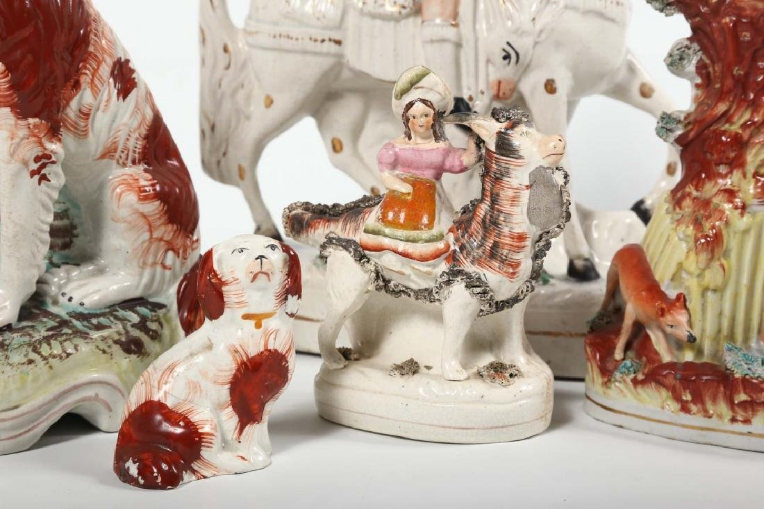 Collection Staffordshire Pottery Figures - 4