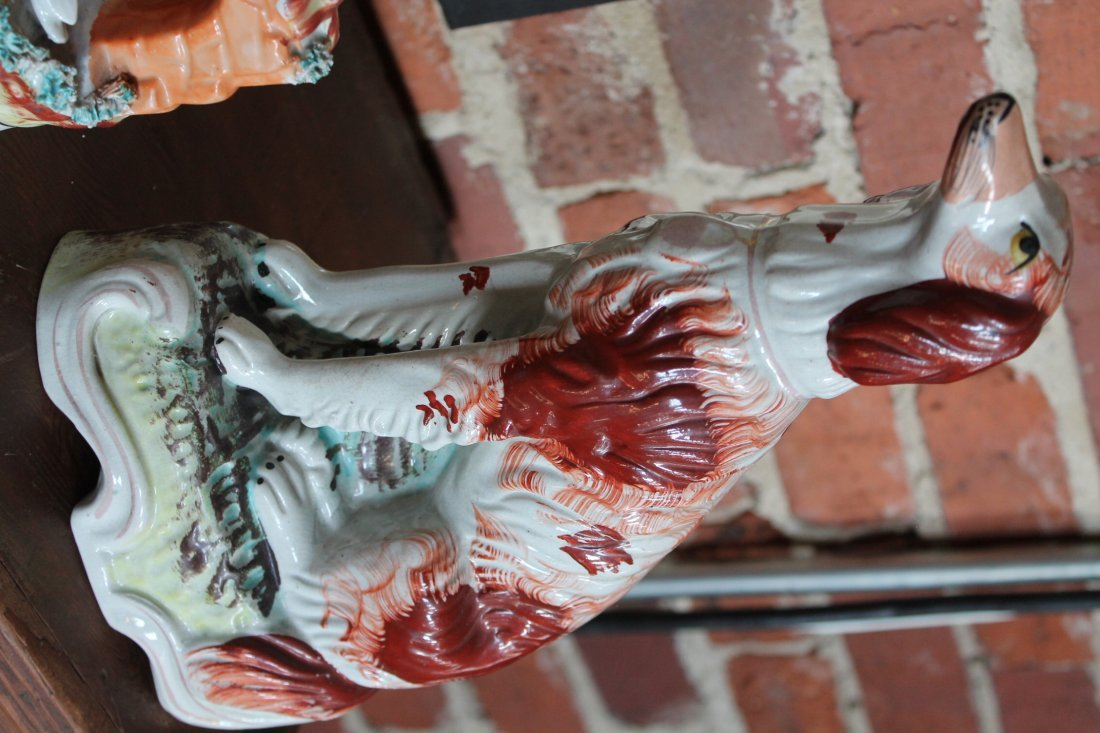 Collection Staffordshire Pottery Figures - 6
