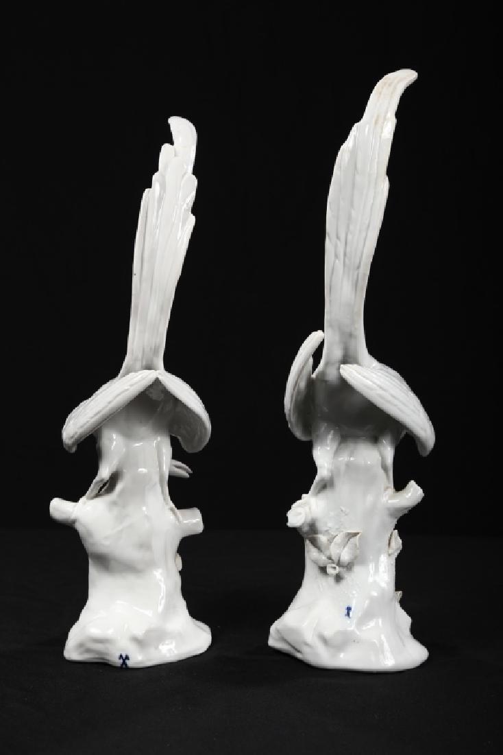 Fine Pair Continental Figural Porcelain Birds - 6