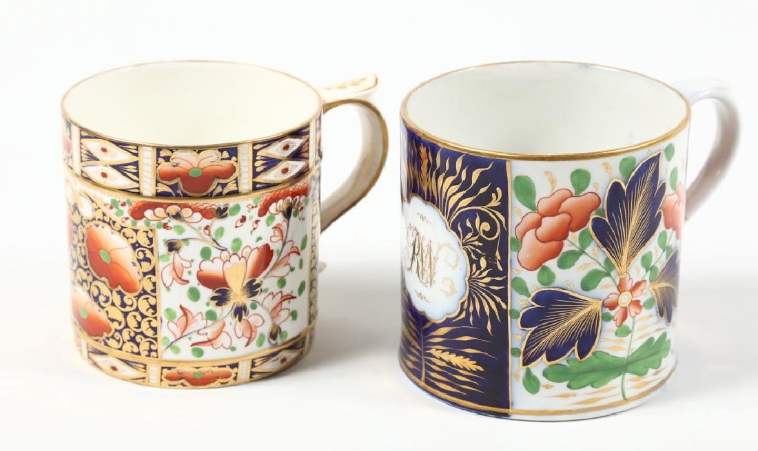 Two Large Antique British Cream Ware Cups