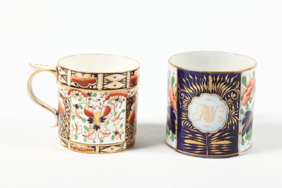 Two Large Antique British Cream Ware Cups - 2