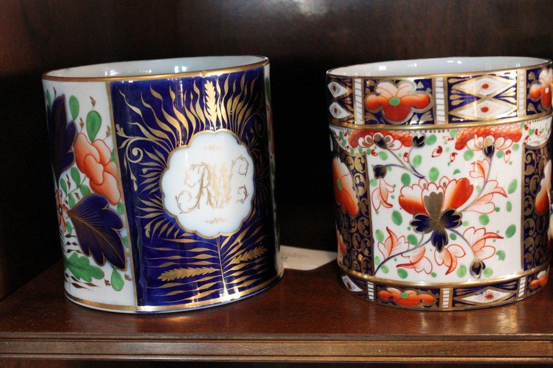 Two Large Antique British Cream Ware Cups - 4