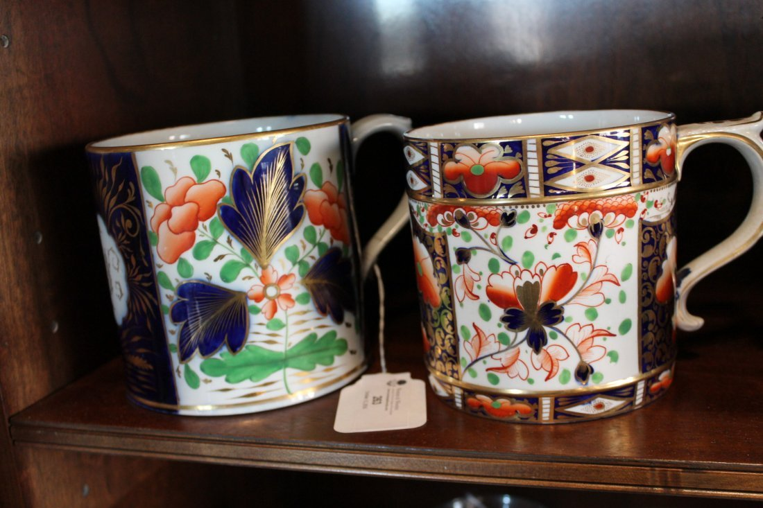 Two Large Antique British Cream Ware Cups - 6