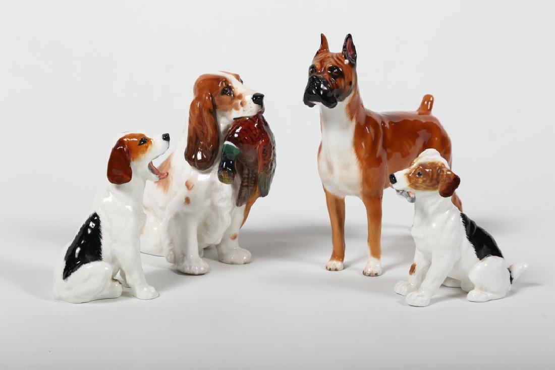 Collection Royal Doulton Figural Porcelain Dogs