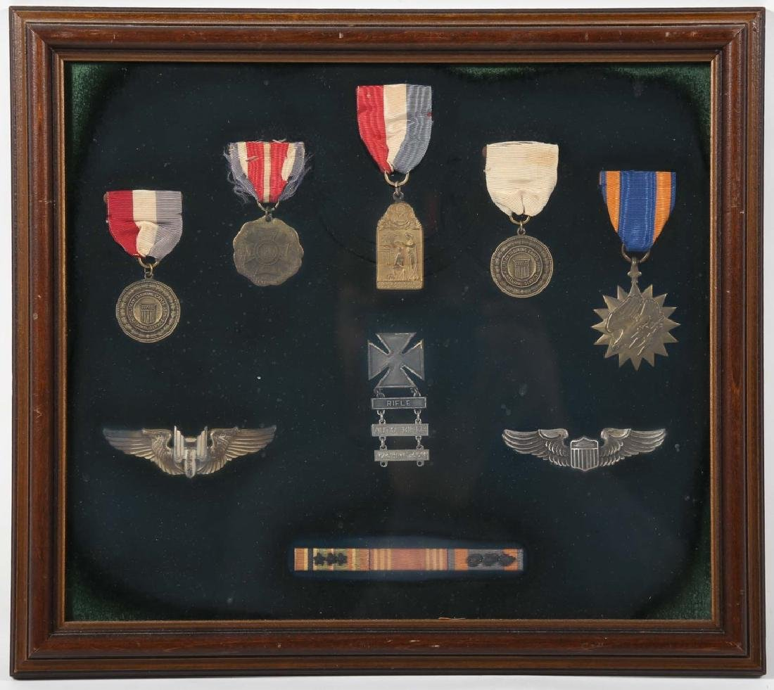 Collection Nine Vintage American Military Medals